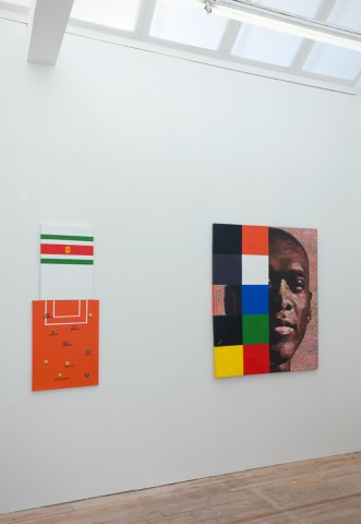 Jeremiah Quarshie, boa me na me mmoa me (Help me let me help you), 2012. Right: Jeremiah Quarshie, This is who I am?, 2012.