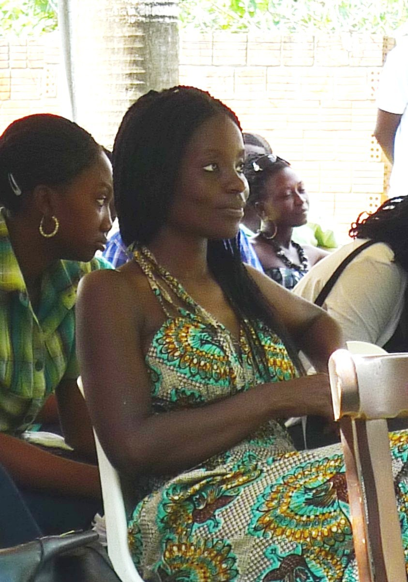 Writer and filmmaker Nana Oforiatta-Ayim in the foreground, and Adwoa Amoah, co-director of the Foundation for Contemporary Art - Ghana, in the background
