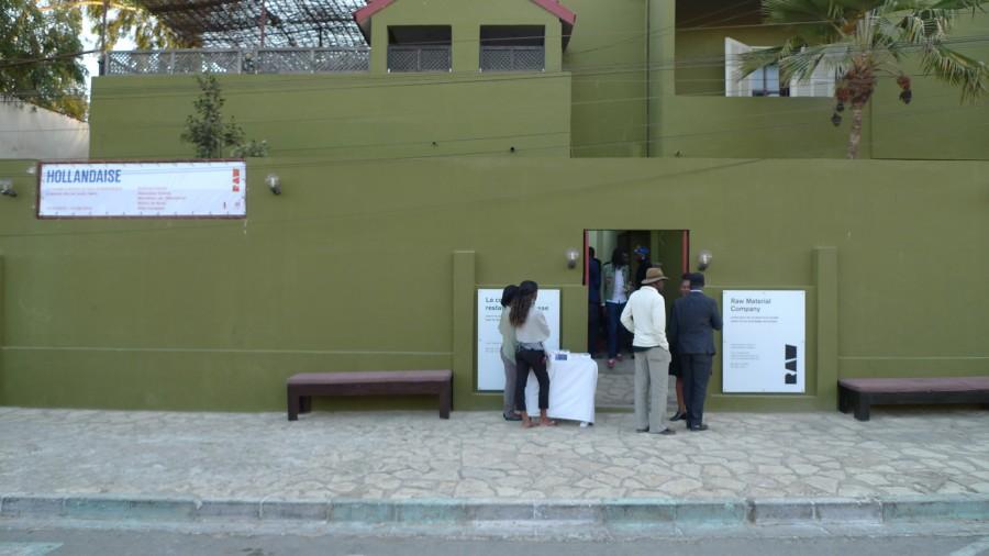 Entrance of RAW Material Company, Dakar